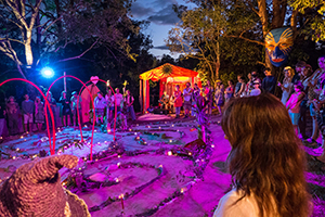 Photographed in the Sacred Union Labyrinth during the 2015-16 Woodford Folk Festival near Woodford, Queensland, Australia.