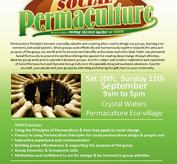 Social Permaculture Course at Crystal Waters EcoVillage