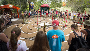 The Sacred Union Labyrinth at Woodford Folk Festival