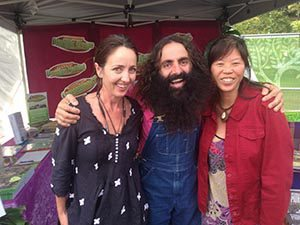 Ange and PoMai photographed with Costa on Robin's stall at the Qld Garden Expo 2015