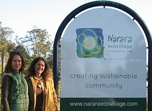 Erin and Robin on a Facilitation Trip to Narara EcoVillage last year