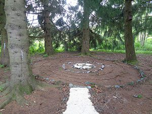 Spiral Labyrinth in Switzerland Women's Weekend