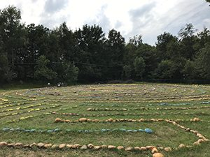 Spiral Labyrinth at Damanhur Italy